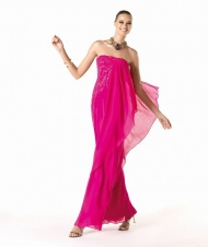 $130 Red Prom Dresses - Strapless Floor Length Sheath Column Chiffon Red Evening Dress at www.promdressbycolor.com
