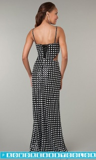 $144 Red Prom Dresses - Checkered Sleeveless Floor Length Dress at www.promdressbycolor.com