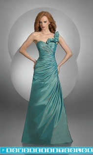 $109 Black Prom Dresses - Ruffled One Shoulder Bridesmaid Dress by Bari Jay at www.promdressbycolor.com