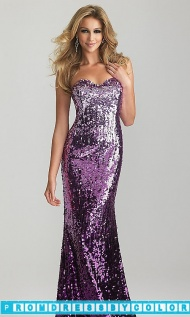 $302 Red Prom Dresses - Strapless Sequin Gown by Night Moves 6627 at www.promdressbycolor.com
