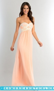 Black Prom Dresses - Strapless Long Prom Dress