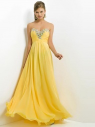 A-Line/Princess Sweetheart Chiffon Ruffles Floor-Length Sleeveless Dress