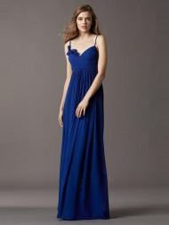 A-Line/Princess Sweetheart Chiffon Sleeveless Floor-Length Dress