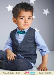 3 piece wedding clothing set for page boy is a complete solution for kids formal wear for birthday party and special occasion.