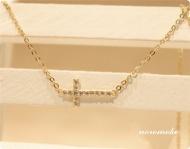 クロスネックレス ゴールド レディース ダイヤ ネックレス 十字架 人気 http://www.noromoko.com/re027