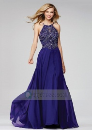 Stunning A-line Spaghetti Straps Scalloped Neck Court Train Prom Dress