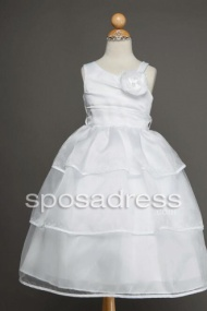 New Arrival Ankle Length First Commuinon Dress With Flowers