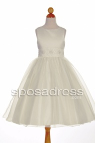 Custom Made Ball Gown Ivory First Communion Dress