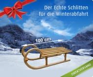 Der Echte Schlitten für die Winterabfahrt Stabiler Holzschlitten mit der traditionellen Form und Leichtlaufkuven statt 69,00 € nur 39,00 €