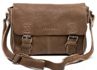 Messenger Bag LOUIS von FEYNSINN, Satchel-Umhängetasche Vintage-cognac-braun, Kuriertasche (ipad) echt Leder (30 x 22 x 8 cm), 59€ statt 179€