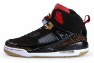 Men's Air Jordan Spizike 3.5 With Black/Gold/Varsity Red/White-Retro 72752