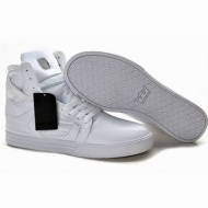 Supra Skytop II High Tops All White skate shoes 26668
