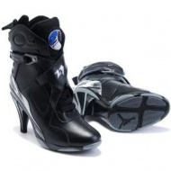 Air Jordan 8 High Heels All Black