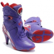 Air Jordan 8 High Heels Purple Red