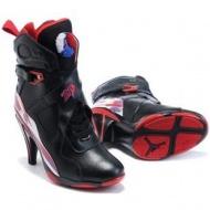 Air Jordan 8 High Heels Black Purple