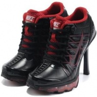 Nike Air Max High Heels Red Black