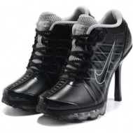 Womens Nike Air Max High Heels Grey Black