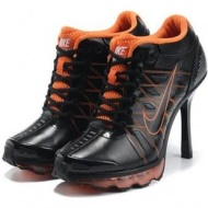 Womens Nike Air Max High Heels Orange Black