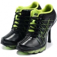 Womens Nike Air Max High Heels Green Black
