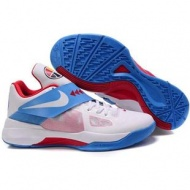 Nike Zoom KD IV Kevin Durant Shoes White/Blue/Red Sport