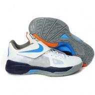 Nike Zoom KD IV Kevin Durant Shoes White/Black/Blue Sport