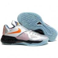 Nike Zoom KD IV Kevin Durant Shoes Silver/Black/Blue Sport