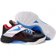 Nike Zoom KD IV Kevin Durant Shoes Black/Blue/Red Sport