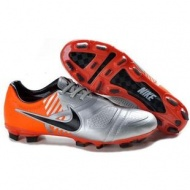 2011 New Nike CTR360 Maestri Elite Soccer Cleats of Silver Orange Black
