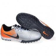 Silver Orange Nike CTR360 Maestri TF Football Boots Soccer Shoes