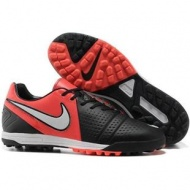 Black Challenge Red White Soccer Shoes Football Boots Nike CTR360 Maestri III TF