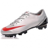 2011 Nike Mercurial SL Mens Soccer Silver Red cleats OUT OF STOCK