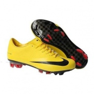 Men Soccer footwear Nike Mercurial Vapor Superfly FG Yellow /Blackout of stock