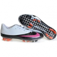 Sale Men Soccer White/Black/Pink Cleats Nike Mercurial Vapor Superfly FG 2011