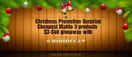 "Hi everyone! Christmas is coming! And the most exciting thing for players in this period is the Christmas Promotion. This year, Battlehome.com has prepared $3-$40 giveaway with ""BHDOFF3"" for all the Diablo 3 players. During these days, you can buy all the Diablo 3 products with our free $3-$40.