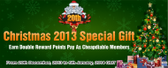 Giving Double Reward Points from 20th December, 2013 to 5th January, 2014 GMT for all members of Cheapdiablo! 