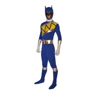Full Body Blue Super Sentai Lycra Spandex Power Ranger Superhero Zentai Costume