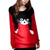 This is the best birthday gift for sweat school girl,you can't miss this fashionable and cute cat knit sweater.It has become the recent hot-selling items online.We offer high quality version and the price is quite competitive.