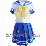 his school Lolita dress features its pure color and lovely collar design, with a big yellow bowknot decoreted under the neckline, this dress looks very cute. This dress is also designed with pleateds and stripes which make it fashionable. If you have something special request or ideas, please click