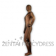 This brown zentai suit is made of quality lycra spandex material which is elastic and soft to touch and wear. It is unisex style, also kids size available. You will look very delicious and have a good shape by wearing it. If you need any help, please feel free to contact our customer service, we will try our best to meet all your requirements.