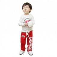 Boys' pants cotton baby Hallen trousers English Letter printing baby pants Children's sport pants