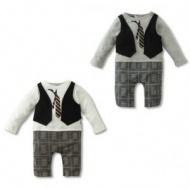 Baby Romper, baby boys Gentleman modelling romper infant long sleeve climb clothes kids outwear/clothes