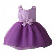 Purple Bow Princess Dress Crystal Princess Dress Purple Girl's Dress Kid's Dress